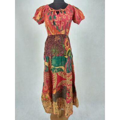 a0b1af8292 Elől kötős - romantikrus maxi ruha