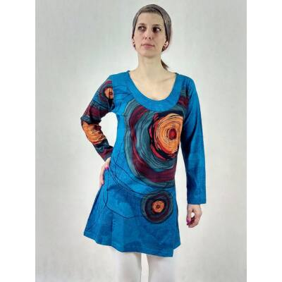 1365695435 Firkás - körös midi ruha ( kék ) - Maxi / Midi ruhák