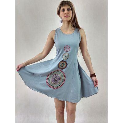 fa60c1663e Négy mandalás - ujjatlan mini ruha ( szürke ) - Maxi / Midi ruhák