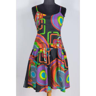 778ccf33e4 Fekete - geometriai mintás midi ruha - Akciók