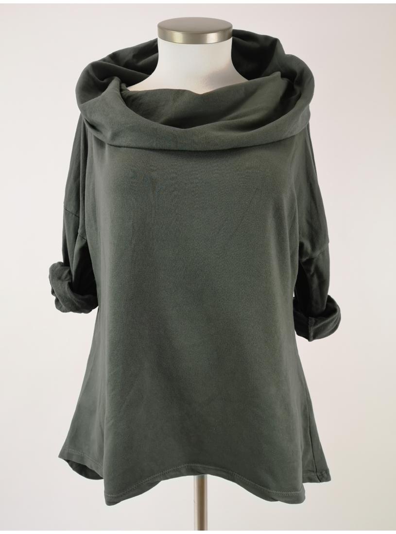 Kámzsásnyakú pulóver - khaki