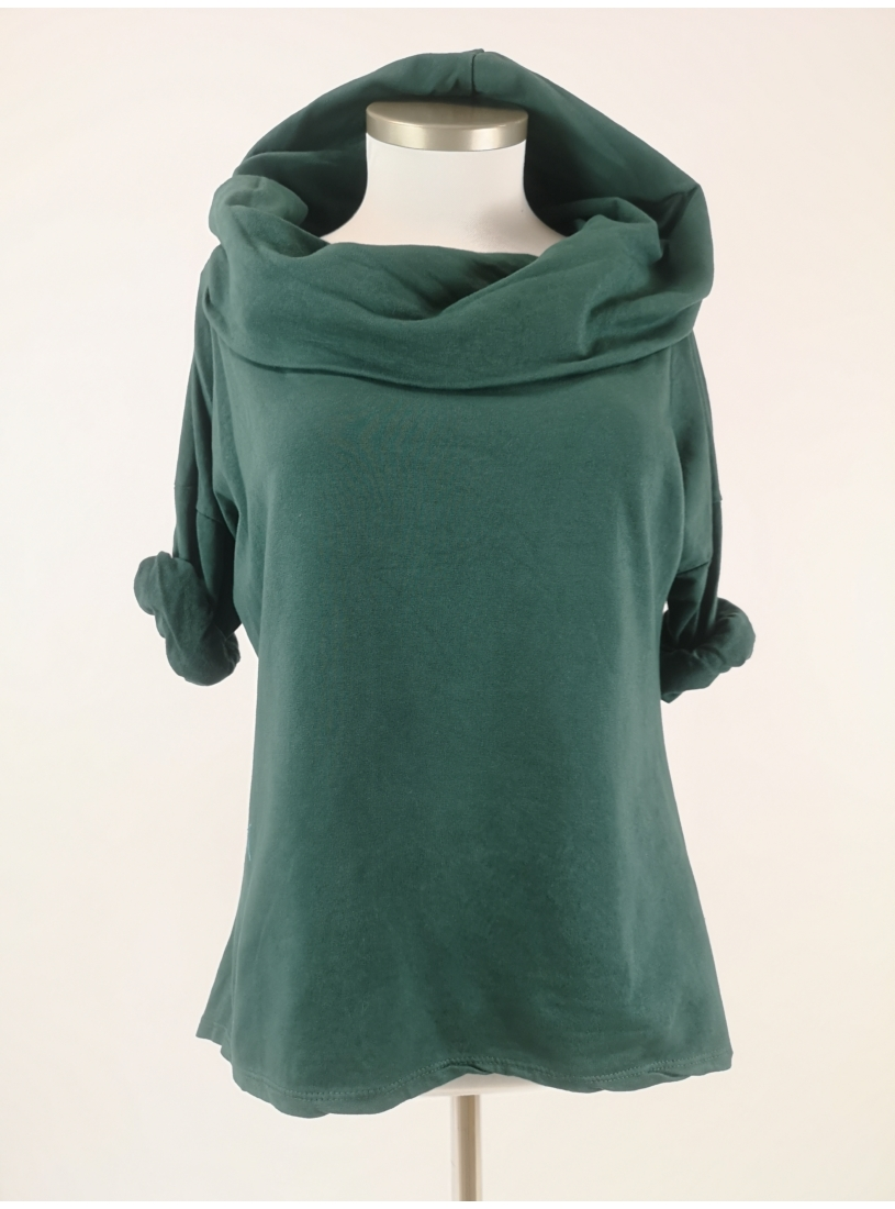 Kámzsásnyakú pulóver - menta
