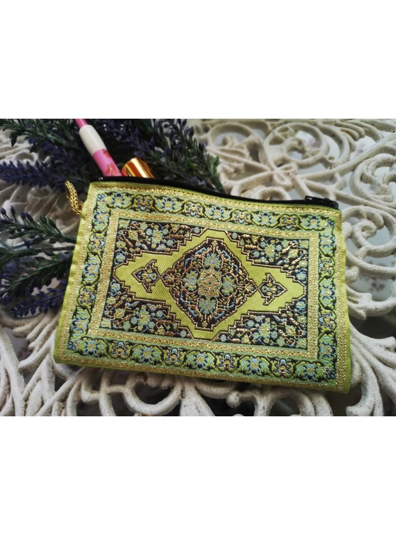 Zöld - oriental pénztárca