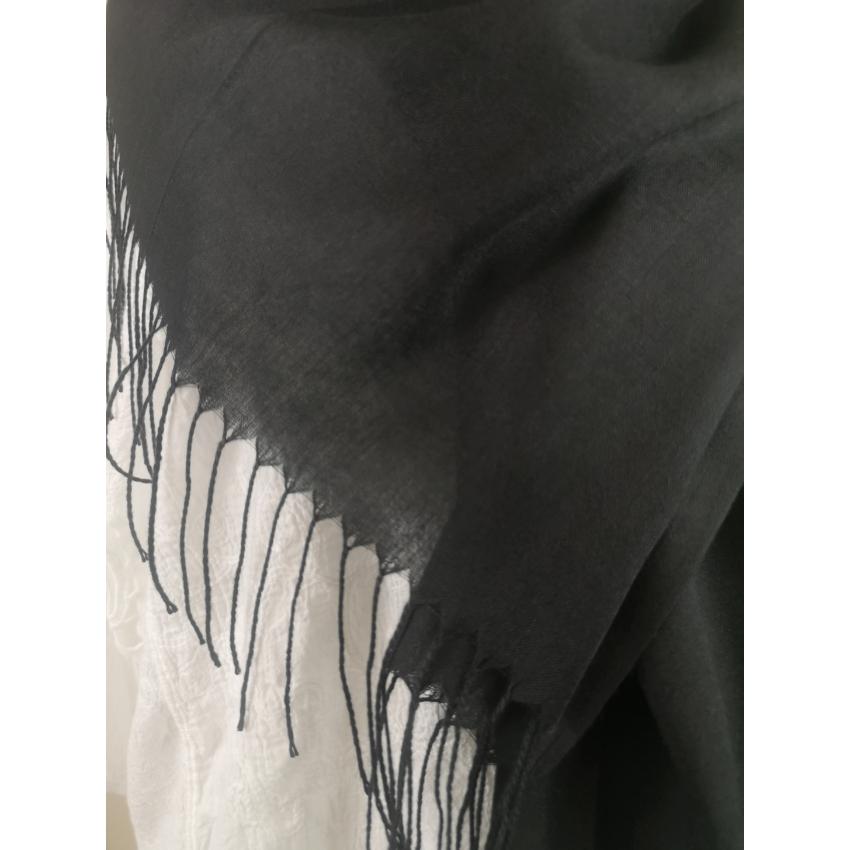 Kasmir kendő - fekete
