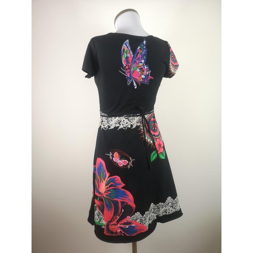 You wit hus fashion - lepke, mandala mintás ruha / fekete /