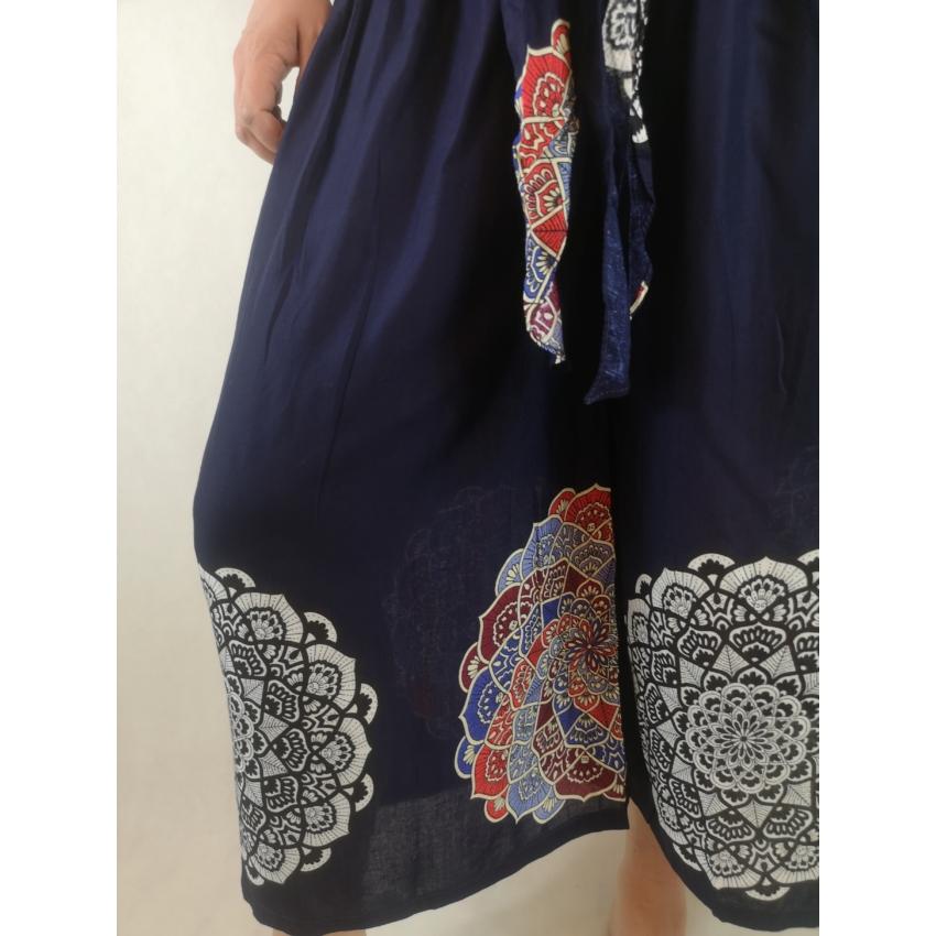Mandalás culotte nadrág - kék