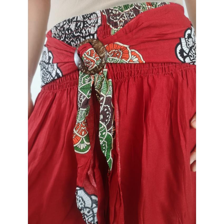 Mandalás culotte nadrág - piros