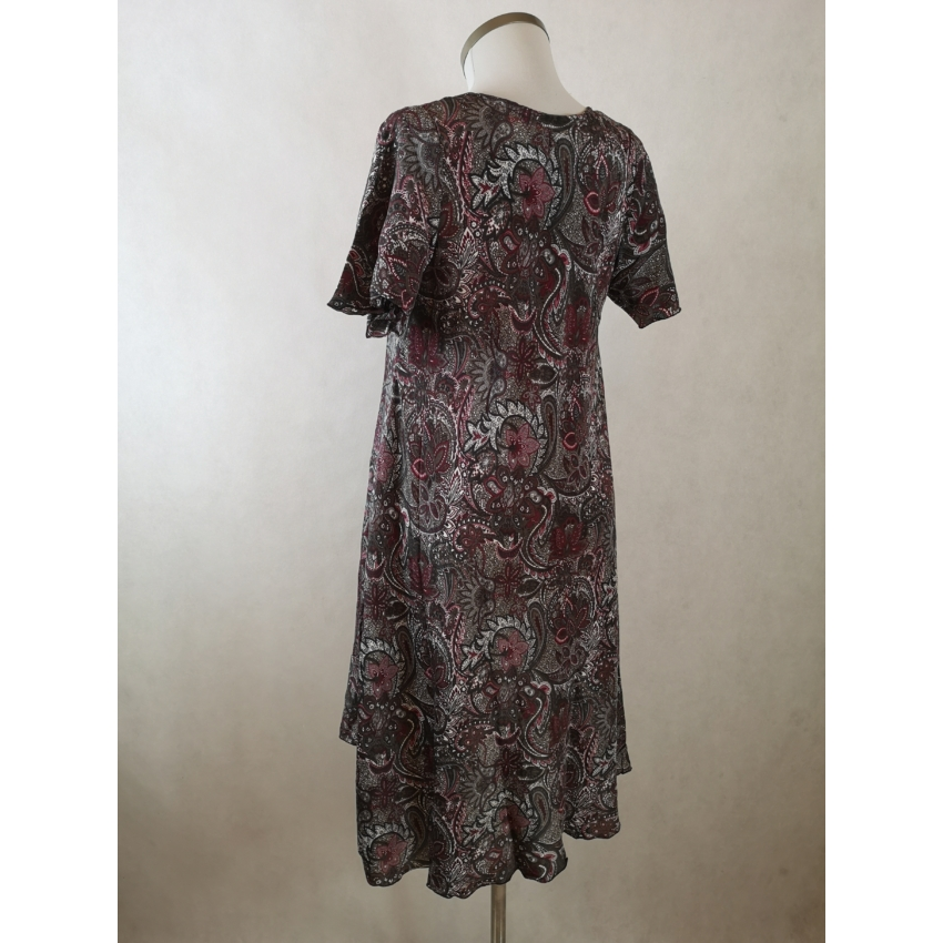 Indiai midi ruha / tunika -  bordó