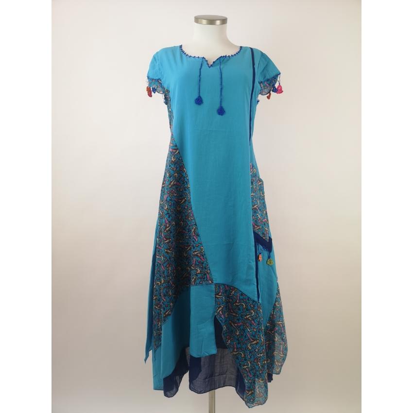Romantikus -  világoskék maxi ruha
