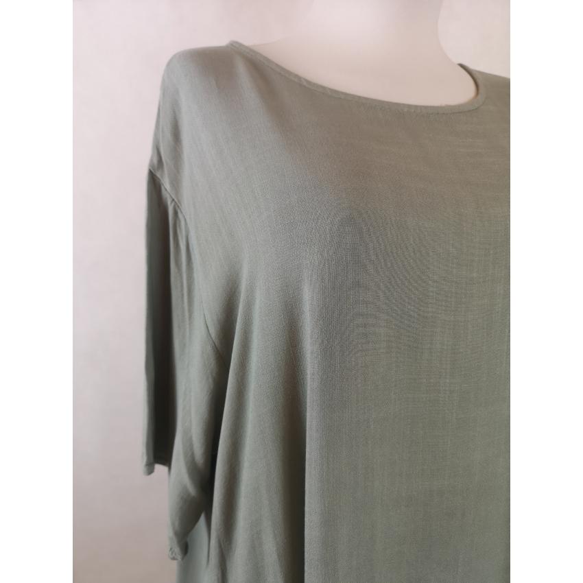 Laza - basic pamut ruha / XL - XXXL / / Khaki /