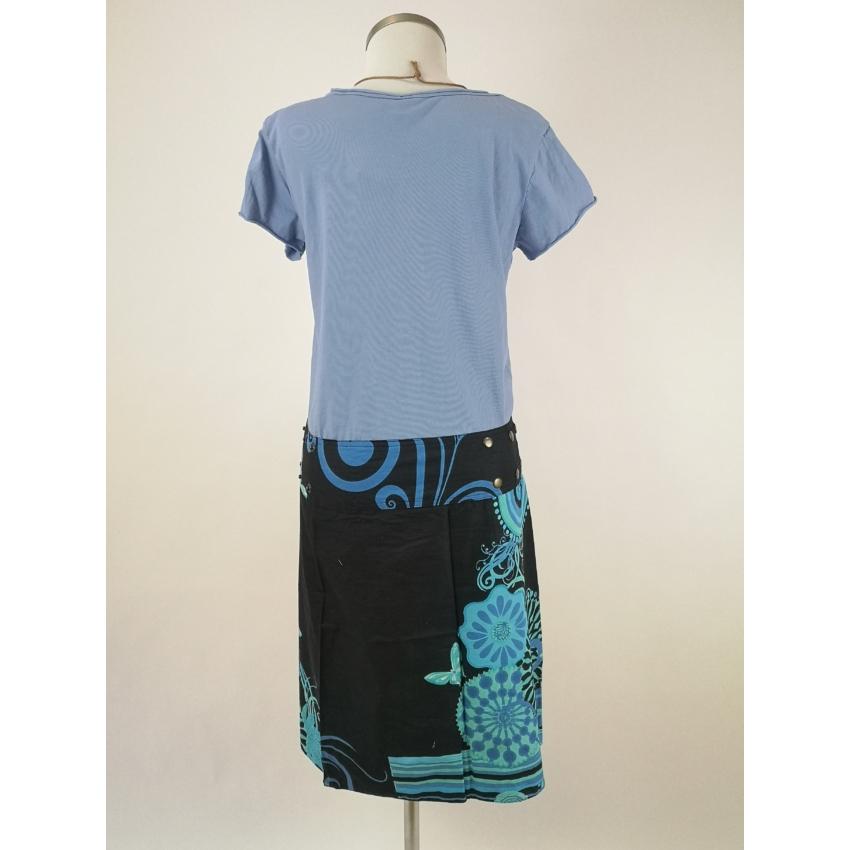 Patentos, kifordítható szoknya- kék lepkés és tűz mandalás