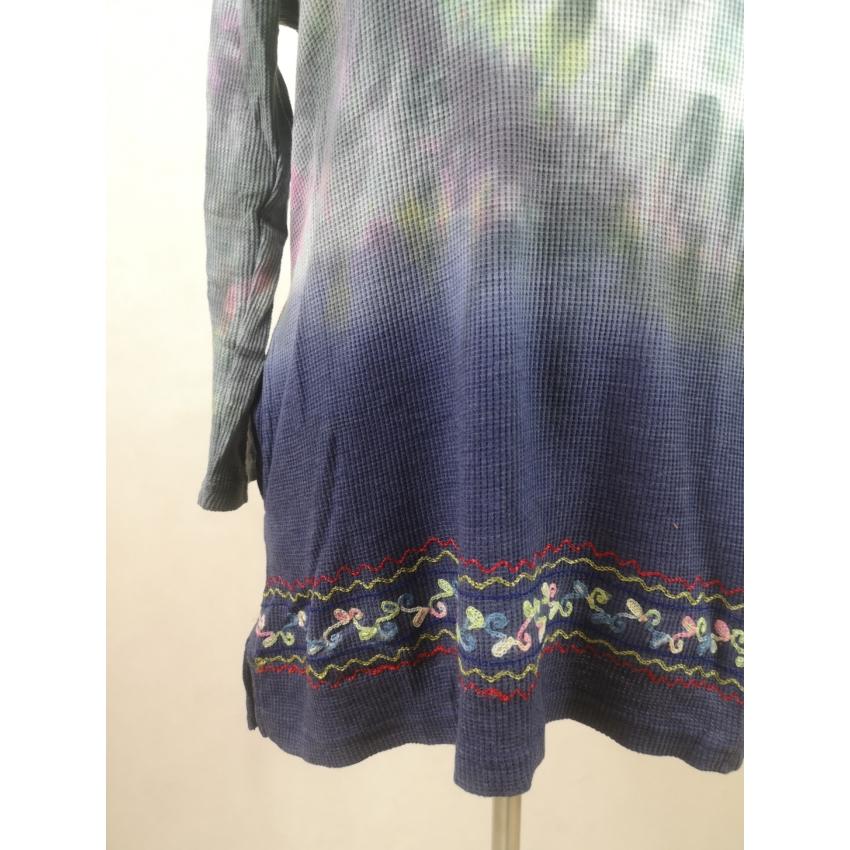 Batikolt, kapucnis pulcsi - alul kék