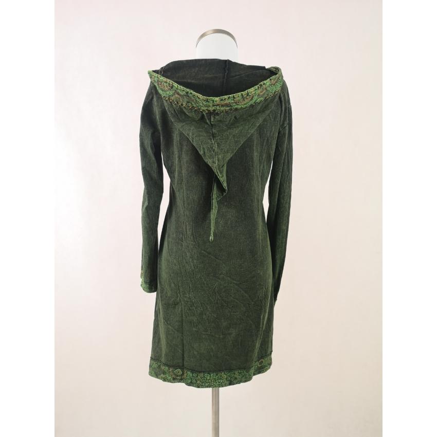 Manó kapucnis tunika / ruha - zöld