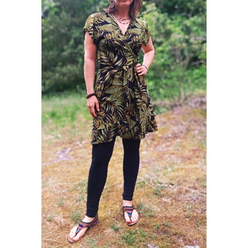 Tropical, átlapolós nyári ruha