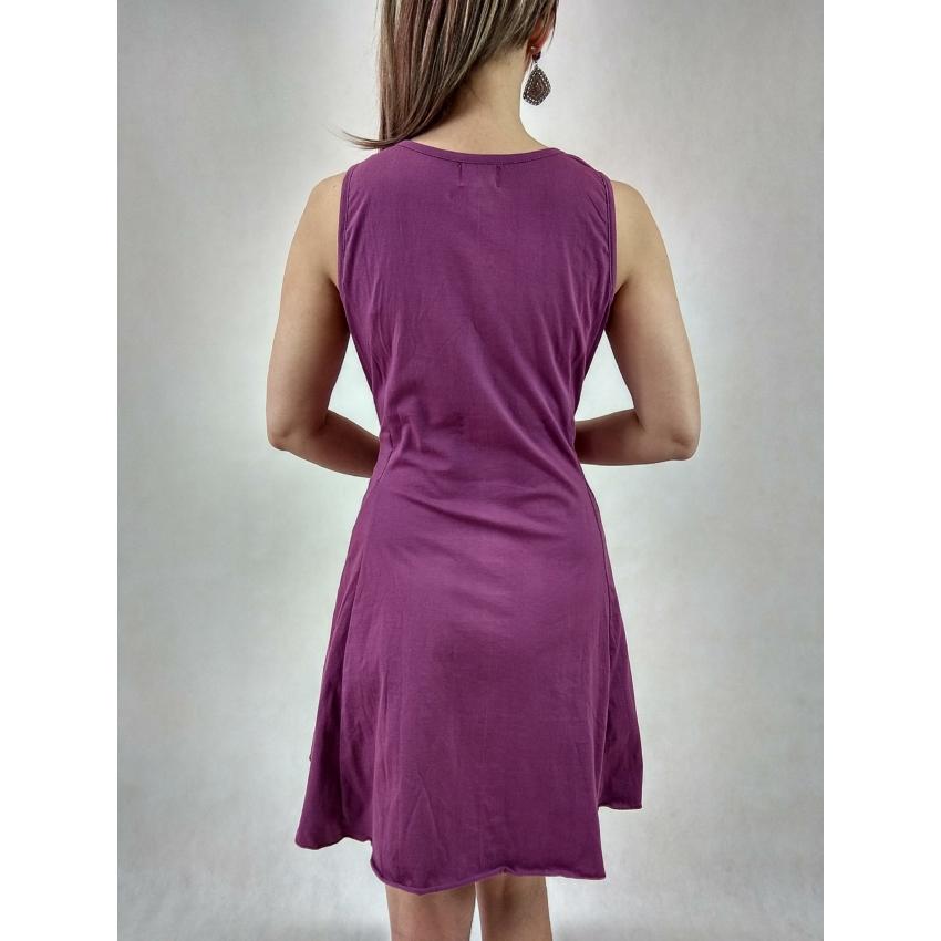 Három mandalás - ujjatlan ruha ( lila )