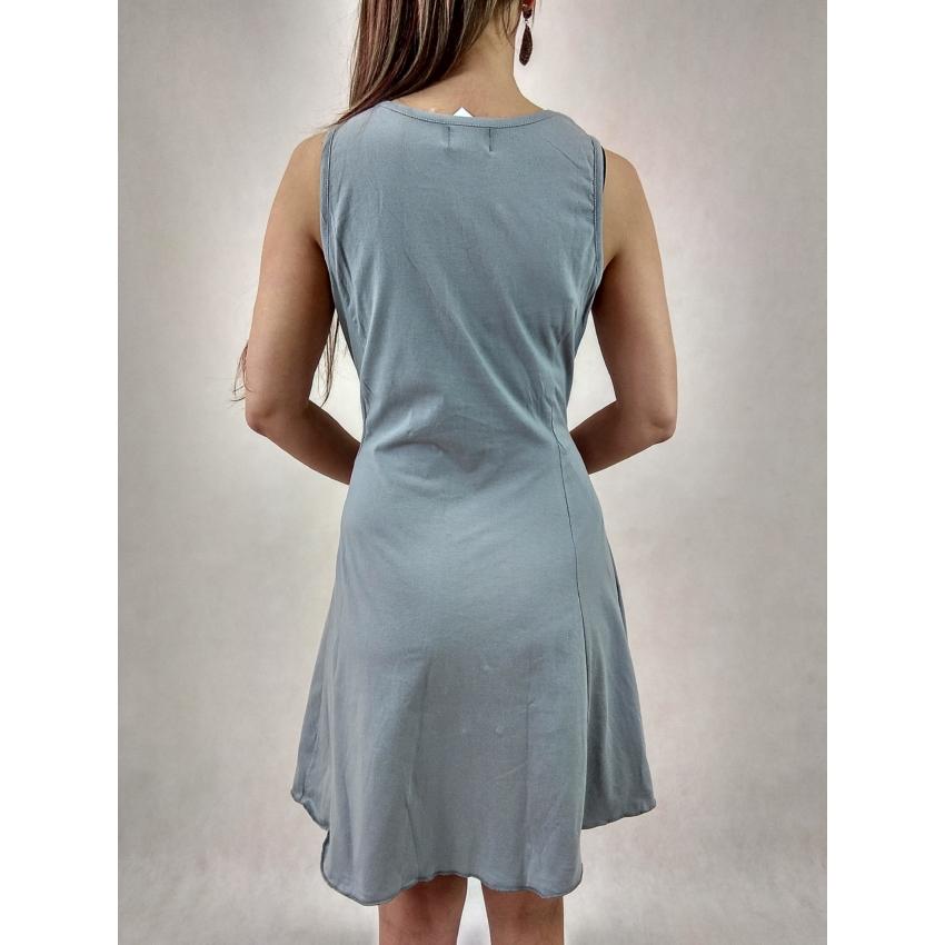 Négy mandalás - ujjatlan mini ruha ( szürke )