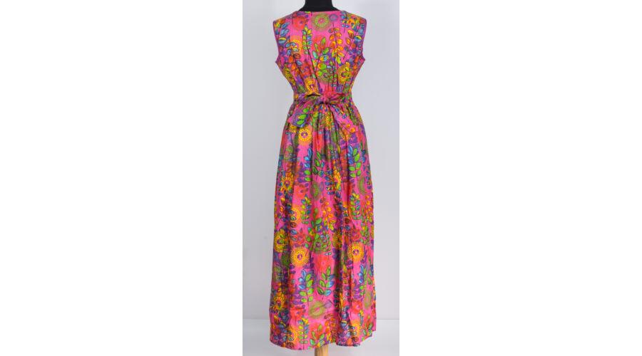 039f972160 Pink - levél mintás maxi ruha - Akciók